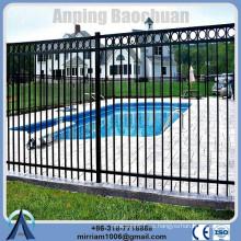 Anping Fábrica alta calidad galvanizado conector de valla, jardín de acero qingdao valla, valla de jardín decorativo