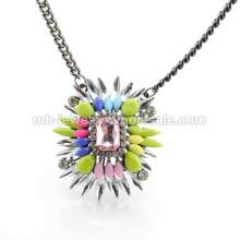 New 2014 Fashion Gun Black Plated Layered Pendants Necklace