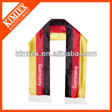 Fashion OEM European polyester custom printing football fan scarves