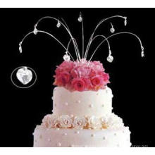 Hanging Sparkle Jewelry Wedding Cake Topper