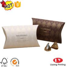 Caja de empaquetado dulce del regalo de la almohada de la boda