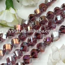 216 perles de torsion en cristal de catégorie AAA