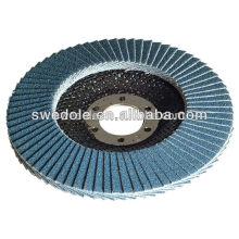 Disco de flap de alumina de zircônia para steel.stainless de aço (INOX), disco de flap flexível feito na china