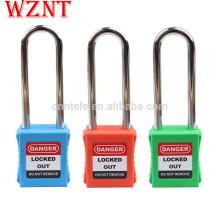 Individuell gravierte Vorhängeschlösser, OEM Buntes Sicherheitsschloss mit Hauptschlüssel