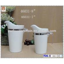 Neues Design mit Kunststoffgriff Keramik Milchglas