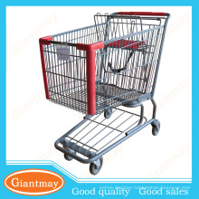 best selling usa style durable wire chrome grocery shopping cart