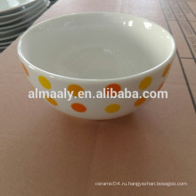 Дети белый фарфор чаша для риса, лапши чаша