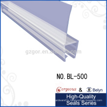 clear plastic shower door seal for 90 degree