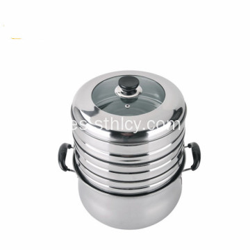 3 capas de acero inoxidable Steamer Professional Pot Pot