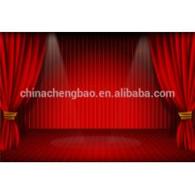 China cortina vermelha motorizada do estágio, cortinas do estágio do casamento