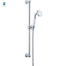 KL-08 economic price bath accessories small hand shower adjusting thermostatic sliding bar shower set