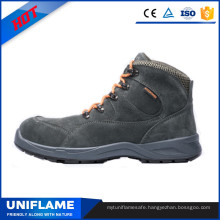 Gray Suede Leather Steel PU Sole Work Safety Shoes Ufb030