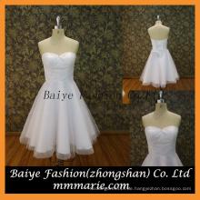 Schöne kurze Chiffon Applique Designed Hochwertige Hochzeitskleid