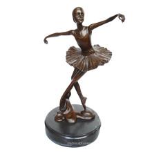 Dancer Brass Statue Bailarina Talla Decoración Bronce Escultura Tpy-294