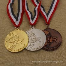 Medalha Running da lembrança do esporte feito sob encomenda da fábrica com fita feita sob encomenda
