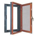 Portes en alliage d'aluminium et fenêtres / fenêtres à battants en aluminium avec moustiquaire