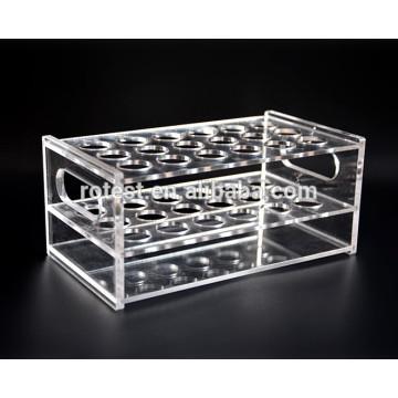 Laboratory acrylic test tube holder rack