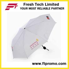 Benutzerdefiniert 3 Falten manuelle offenen Regenschirm mit Siebdruck