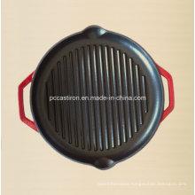 Enamel Cast Iron Griddle Pan with LFGB Certificate