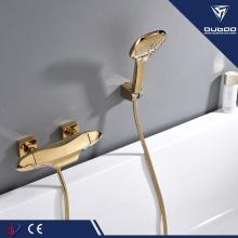 Золотой смеситель для ванны термостатический ванна-душ смеситель