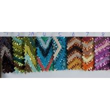 Tecido de tecido decorativo de malha brilho