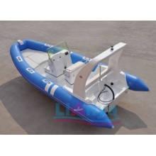 Barco de pesca inflável de fibra de vidro de casco rígido