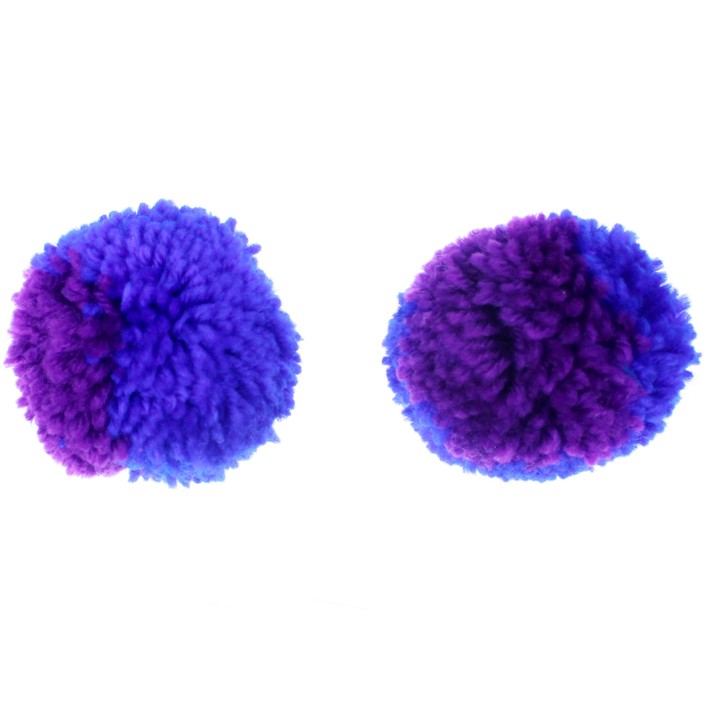 Jumbo purple yarn pom ball