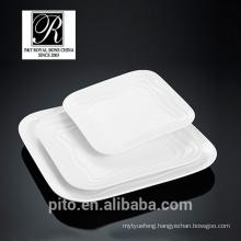 P&T chaozhou porcelain factory, ocean line square plates, fashion elegance