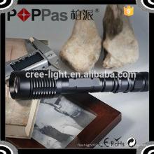 Poppas V5-858 tempo de execução 3 horas de alumínio recarregável 450lm brilho longo 18650 luz da tocha LED