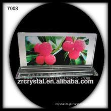 Cristal de foto de impressão colorida Y008