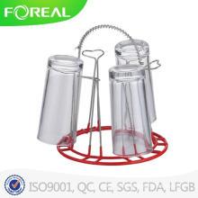PVC getauchtes Metall verchromtes Glas-Schalen-Halter