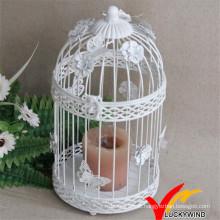 Presente de casamento decorativo antigo Metal vela branca 32 centímetros lanterna