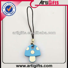 Mobile phone charm accessory with mushroom design