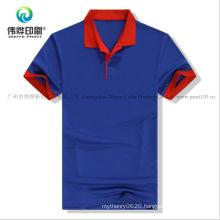 Customized Cotton Printing Polo Neck Garment / Clothes