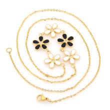 Gold Bar Charms Halskette, Brillenschnur Handtasche Hardware Ketten