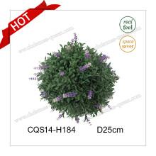 10 pulgadas de flores artificiales de Navidad Bauble para el ornamento del jardín