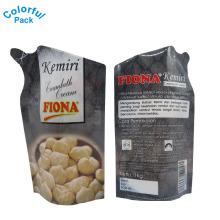 O saco feito sob encomenda do bico da forma liso & levanta-se o malote nuts de Doypack das malas para a bebida do óleo do suco da água