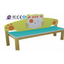 Niños de jardín de infancia de dibujos animados sofá de madera
