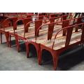 Промышленные Городском Лофте Скамейке Красный Цвет Термообработанной Древесины Сиденья