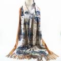 marques de foulard en laine de cachemire tricoté chaud d'hiver