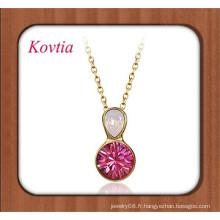 Bijoux finis bijoux bijoux en cristal à deux couleurs