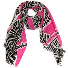 2017 mode nouveaux styles double couche hiver mode 100% laine lady jacquard écharpe