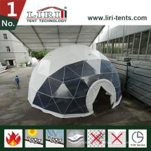19m Geodätische Kuppelzelte mit runden Fenstern für Filme