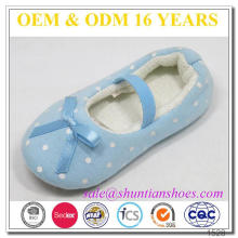 new fashion warmer cute soft knit baby girl closed toe slipper footwear with pink butterfly knot
