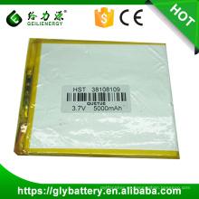 mercancías de la batería del polímero de litio de China 3.7v 6000mah