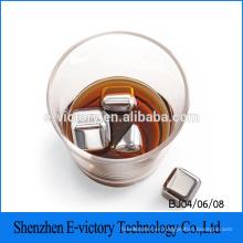 Piedras del whisky nuevo - Set de bebida Premium 4 refrigeración de acero inoxidable reutilizables hielo cubos cubo de hielo de acero inoxidable