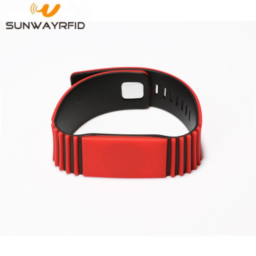 Custom RFID Chip Debossed Silicone Gelang