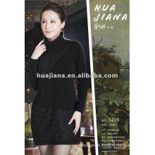 women's turtleneck 100% cashmere sweater dress