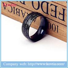 Bague à bijoux Steampunk anneau en acier titane noir pour hommes