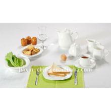 47pcs emboss ceramic dinner set